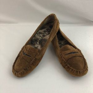 Sam Edelman Jones Brown Suede Penny Loafer Driving